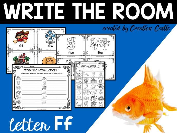 Alphabet Write the Room - Letter F