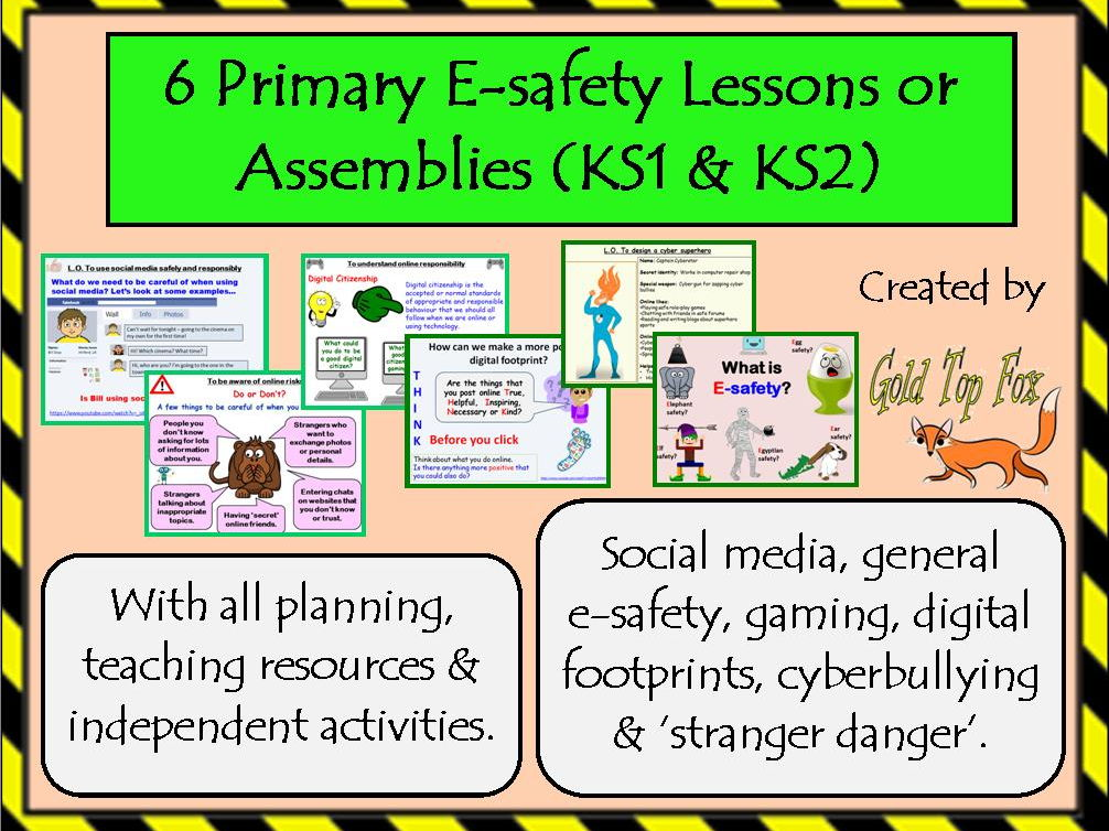 6 E-Safety Assemblies or Lessons for Primary Internet Safety