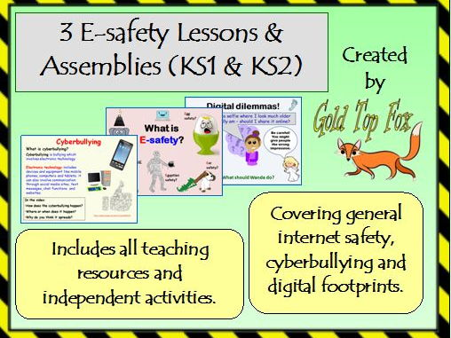 Three E-Safety Assemblies and Lessons (KS1 and KS2 internet safety)