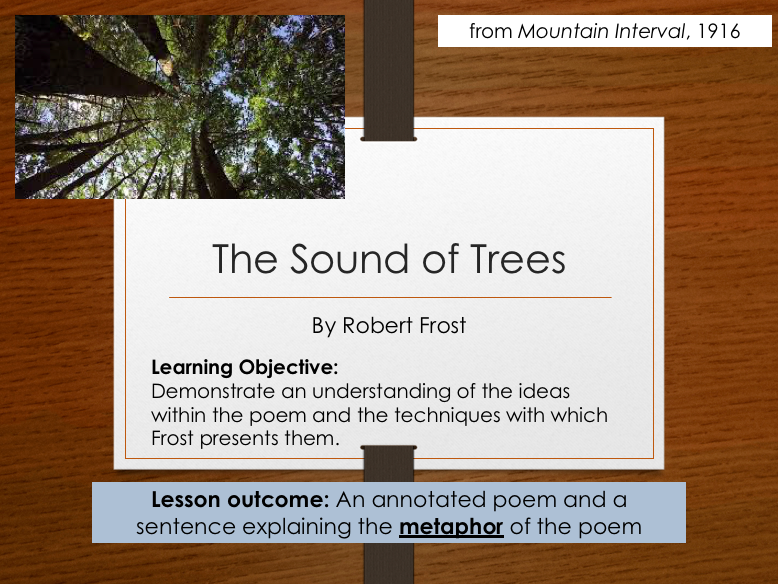 Robert Frost - The Sound of Trees