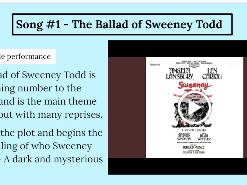 Sweeney Todd Full Analysis Powerpoint AQA A Level AoS 4