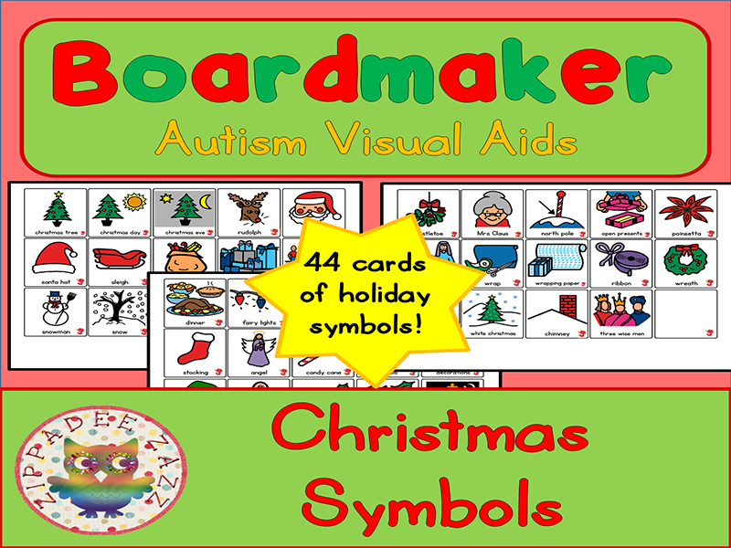 Christmas Symbols Boardmaker Visual Aids For Autism By