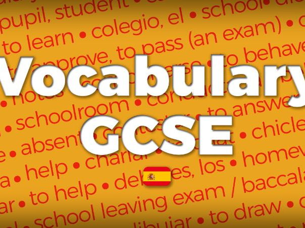 Spanish GCSE - Vocabulary list (AQA New Specification 8698)