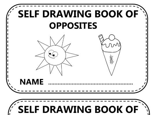 SELF DRAWING BOOK OF OPPOSITES