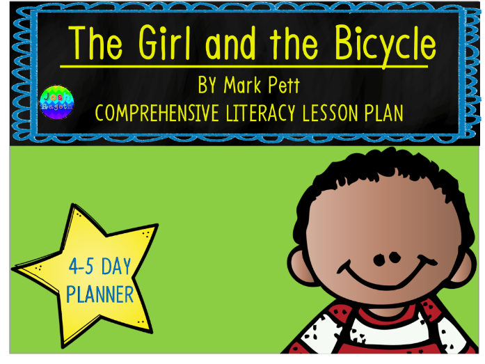 The Girl and the Bicycle by Mark Pett 4-5 Day Lesson Plan