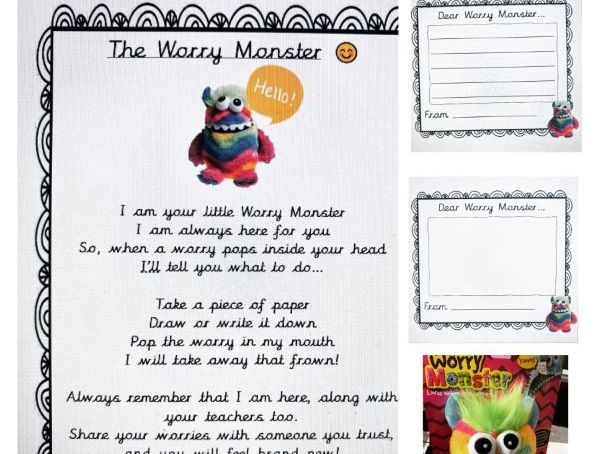 Worry Monster Templates & Poem