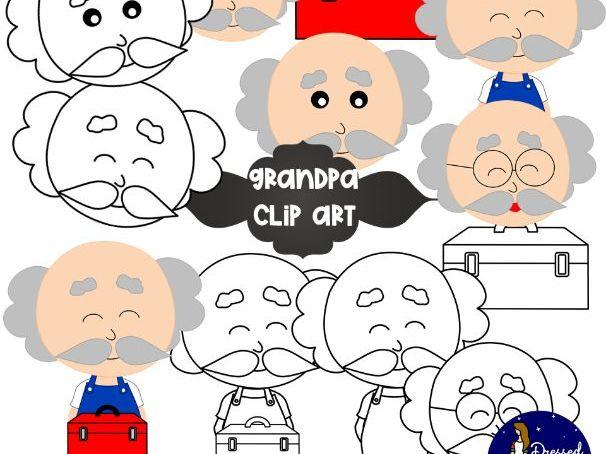 FREEBIE - Grandpa Clip Art