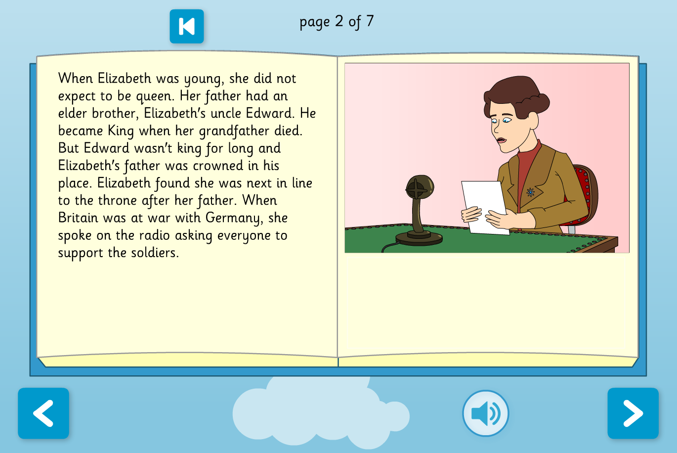 About Queen Elizabeth II Interactive Information Book - Reading Level A - KS1