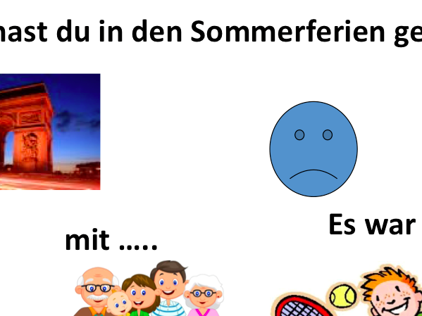 Sommerferien Prompt card