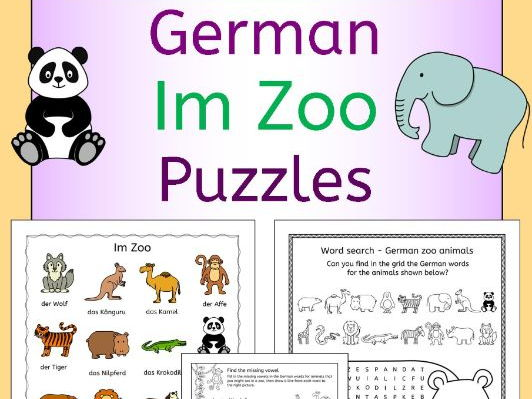 German Zoo Animals Im Zoo Puzzles Pack