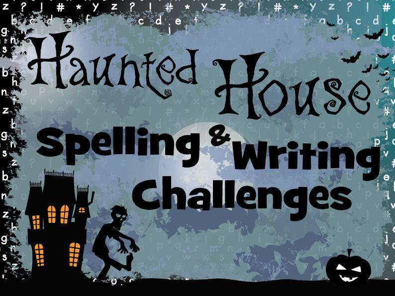 Spooky Writing Challenges for Year 5 & 6 featuring exception words
