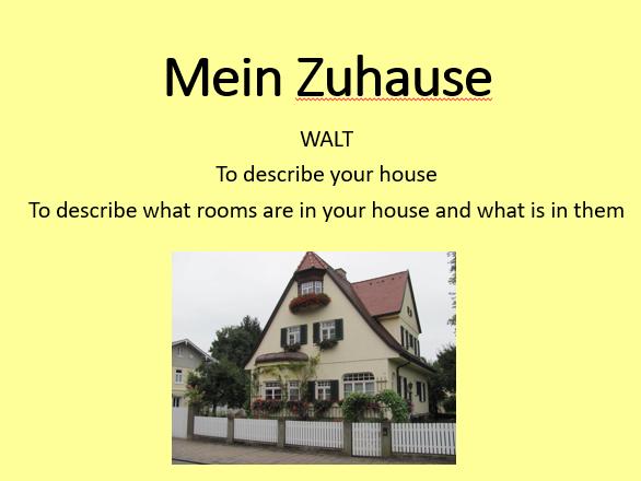 Mein Zuhause AQA GCSE German