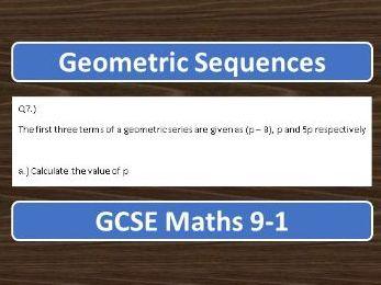 GCSE Maths 9-1 Geometric Sequences Exam Questions