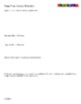 Major Even Analysis Form / Worksheet