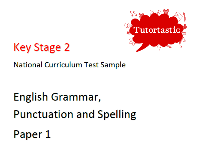 KS2 SATS Grammar Paper 1: Sample A (with answers)