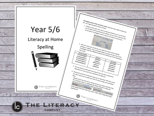 Literacy learning from home - Spelling Y5/6