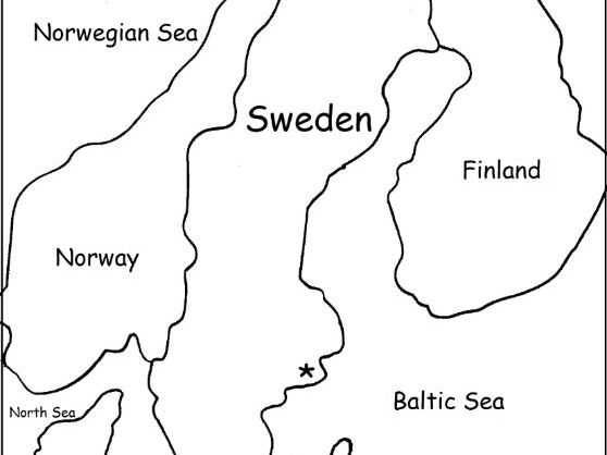 SWEDEN - Printable worksheets include a map to color