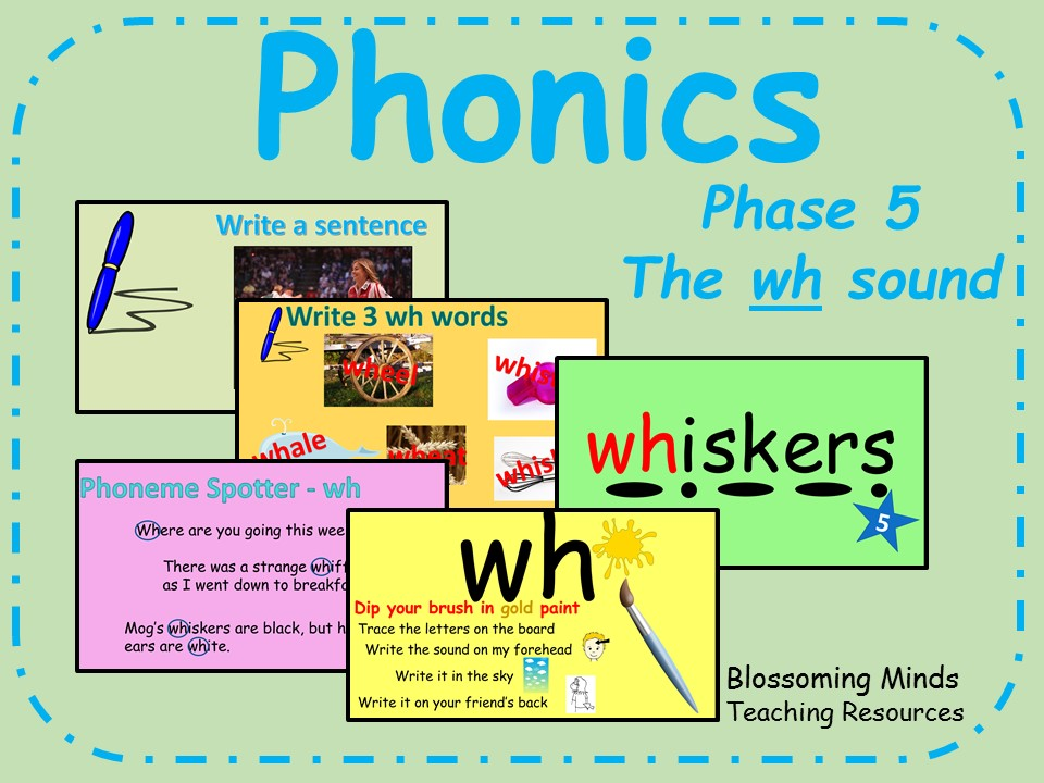 Phonics phase 5 - The 'wh' sound