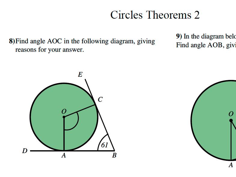 GCSE Maths Revision Circle Theorems 2