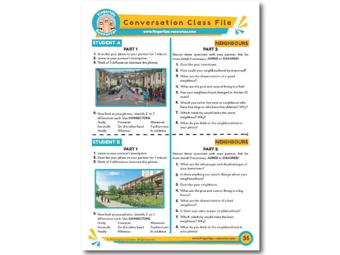 Neighbours & Neighbourhoods- ESL Conversation Activity