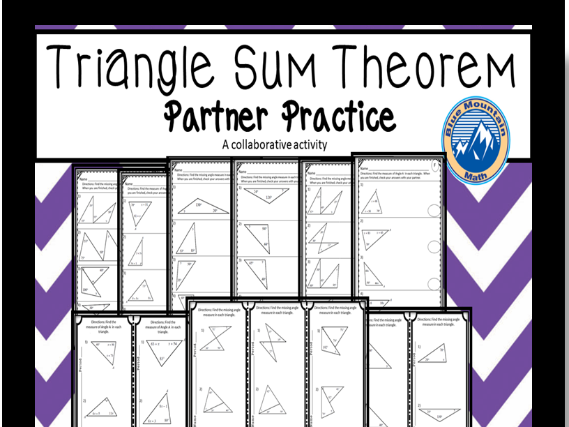 Triangle Sum Theorem Partner Practice