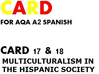 SPEAKING CARDS 17 & 18 for AQA A2 SPANISH (new specification)
