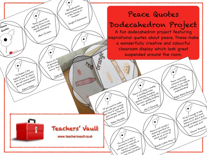 Peace Quotes Dodecahedron Project