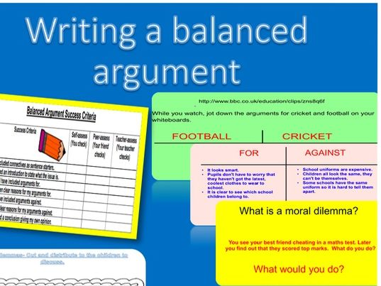 Balanced Arguments