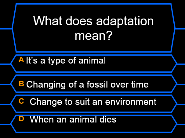Evolution and Inheritance - Who Wants to be a Millionaire Quiz