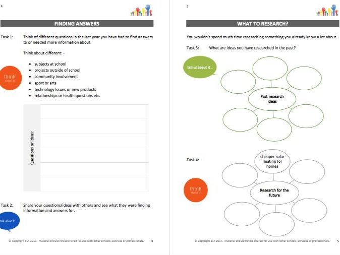 RESEARCH & PRESENT IT (3) - RESEARCH SKILLS MAKING SENSE workbooklet