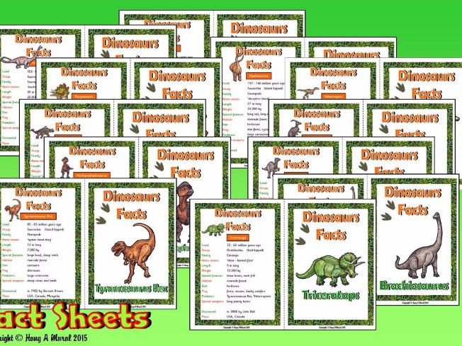 Dinosaurs Fact Sheets