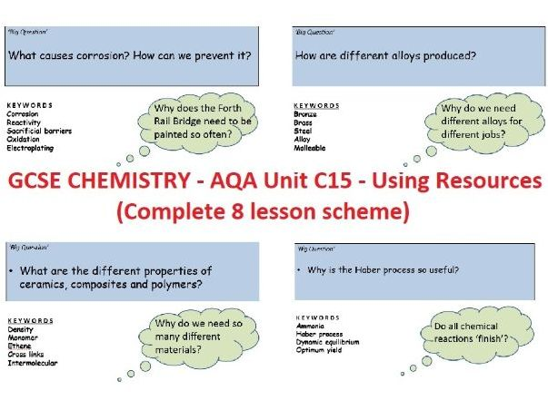 GCSE Chemistry - AQA C15 Using Resources