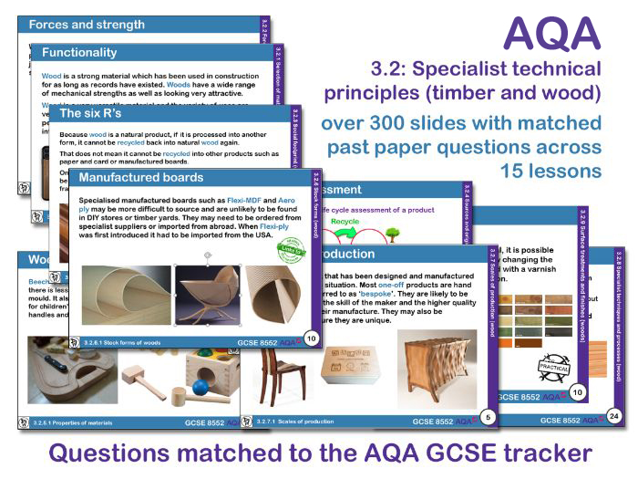 AQA GCSE Design and Technology 3.2: Specialist technical principles (Timber and wood)