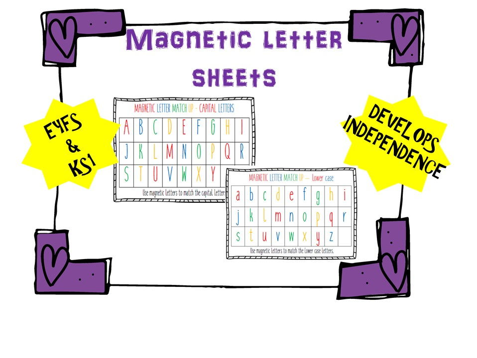 Magnetic Letter Match Up