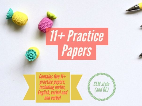 Full set of five 11+ CEM practice papers