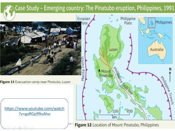 Edexcel Geography B KS4 SOW - Tectonic Hazards: Lesson Five - Mt Pinatubo