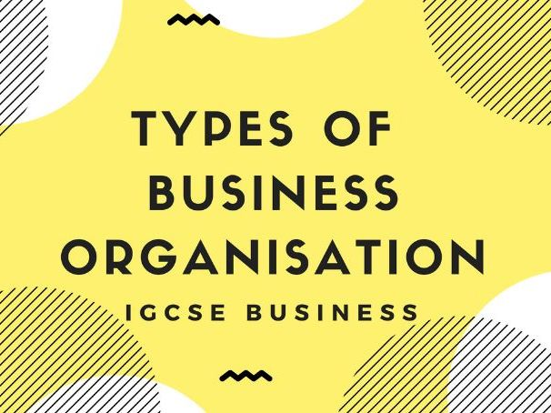 1.4 Types of business organisation IGCSE business