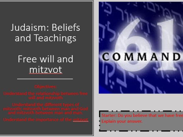 Judaism Free Wll and Mitzvot