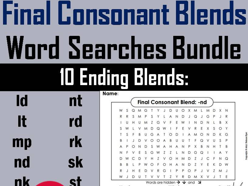 Final Consonant Blends - mp Word Search
