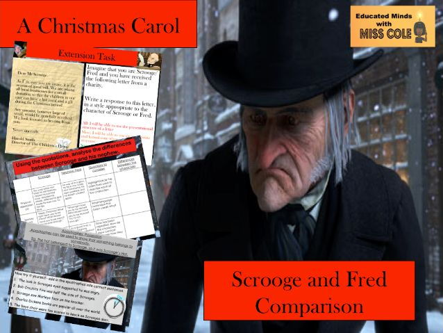A Christmas Carol Stave 1: Scrooge and Fred Comparison