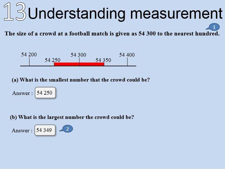 Maths : Understanding measurement