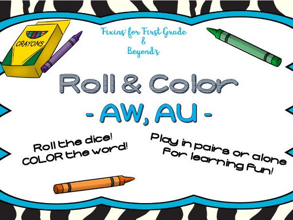 Roll & Color - Vowel pairs AW and AU