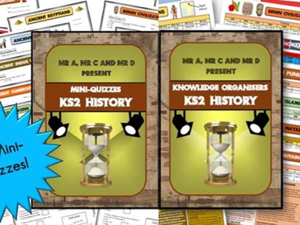 *BUNDLE* KS2 History Knowledge Organisers and Mini-Quizzes