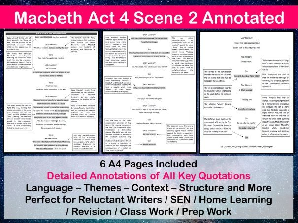 Macbeth Act 4 Scene 2 Annotated