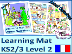 PRIMARY FRENCH VOCABULARY LEARNING MAT (KS2/3):months, numbers 1-31, date, birthdays, presents,