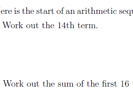 The nth term and sum of an arithmetic sequence worksheet (with solutions)