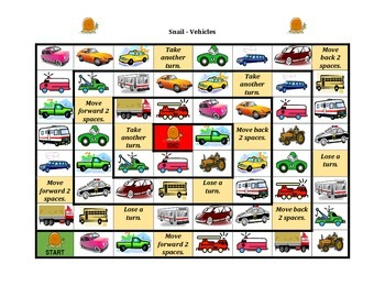 Vehicles in English Snail game