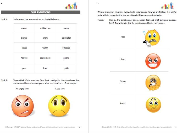 CHANGING FACES (1) - EMOTIONS workbooklet