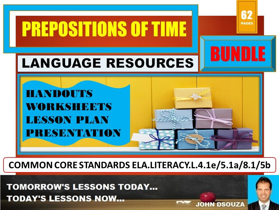 PREPOSITIONS OF TIME BUNDLE