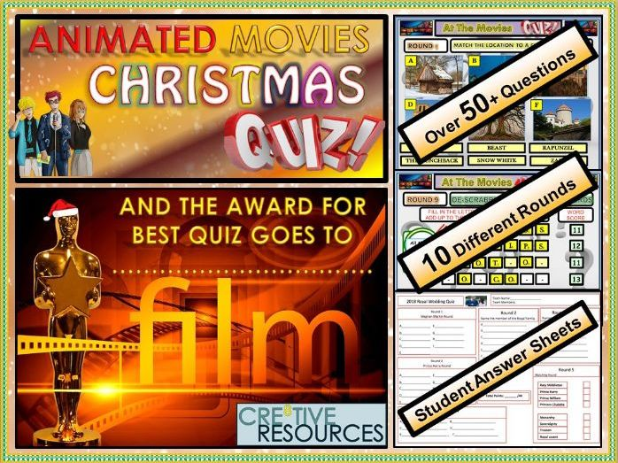Primary Christmas Quiz 2018 -Movies End of Term Quiz